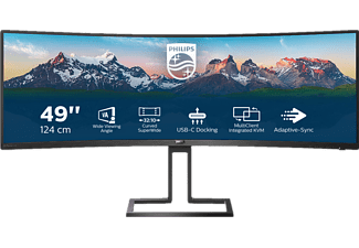 PHILIPS 498P9 Curved 49 Zoll 2K UltraWide QHD Monitor (4 ms Reaktionszeit, 100 Hz)