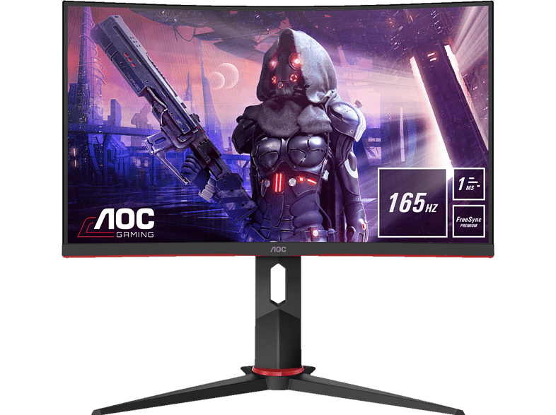 AOC C24G2U 24 Zoll Full-HD Gaming Monitor 1 ms Reaktionszeit, 165 Hz