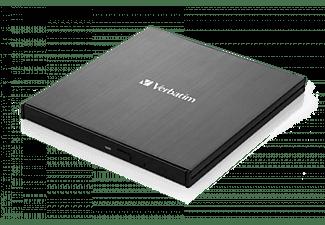 VERBATIM External Slimline Blu-ray Brenner, USB 3.0, Extern, Schwarz (43890)