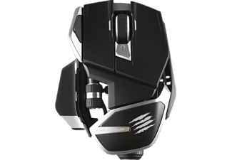 MAD CATZ R.A.T. DWS dual wireless Gaming Maus, Schwarz/Silber
