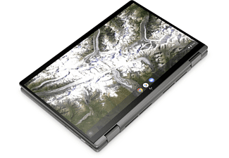 HP Chromebook x360 14c-ca0305ng, Plus Chromebook mit 14 Zoll Display Touchscreen, Intel® Pentium® Gold Prozessor, 4 GB RAM, 64 GB eMMC, Intel® UHD Grafik, Silber