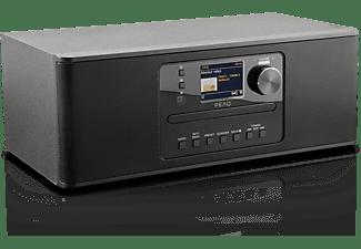 PEAQ PDR 370 BT-B Internetradio, DAB+ Radiotuner, FM Tuner, Internet-Radio, DAB+, FM, Internet Radio, DAB, Bluetooth, Schwarz