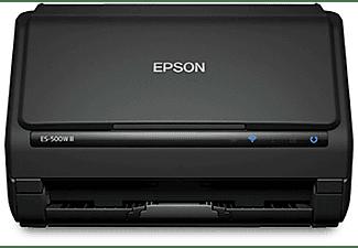 Escáner - Epson WorkForce ES-500WII, Inalámbrica, 600 x 600 DPI, 35 ppm, 30 bits, ReadyScan LED, Negro