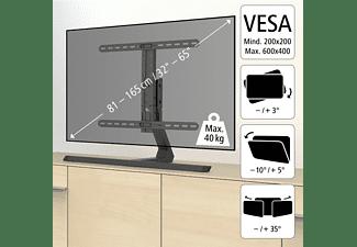 HAMA Design TV-Standfuß, max. 65 Zoll, Neigbar, rotierbar, Schwenkbar, Schwarz