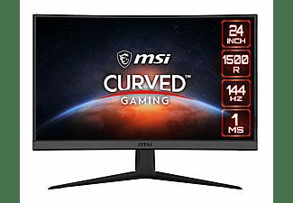 "Monitor gaming - MSI Optix G24C6, 23.6"" FHD, Curvo 1500R, 1ms, 144 Hz, FreeSync, DisplayPort, HDMI, USB, Negro"