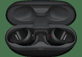 SONY WF-SP800N, Earbuds, Ladeetui, In-ear Kopfhörer Bluetooth Schwarz