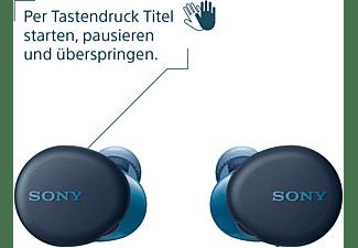 SONY WF-XB700, Earbuds, Ladeetui, In-ear Kopfhörer Bluetooth Blau