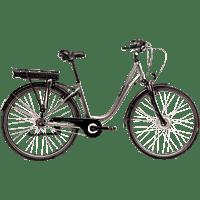 SAXXX CITY LIGHT PLUS 7 2020 Citybike (28 Zoll, Rahmenhöhe: 28 Zoll, Erwachsene-Rad, 374.4 Wh, Silber Matt)