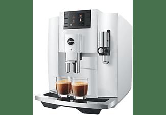 Cafetera superautomática - Jura E8 Piano White, 1450 W, 1.9l, 15 bar, 2 Tazas, Capacidad café 280g, Blanco