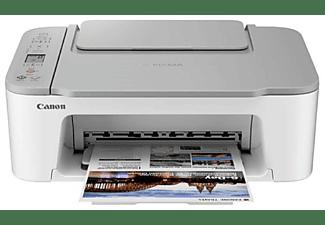 Impresora multifunción - Canon TS3451, Blanco/Negro y Color, 4800 x 1200 DPI, 7 ppm, Con escáner, Blanco