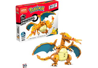 MEGA CONSTRUX Pokémon Glurak Bauset, Mehrfarbig