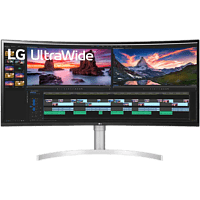LG ELECTRONICS Monitor Curved UltraWide 38WN95C, 38 Zoll, QHD+, 144Hz, 1ms, AH-IPS, 450cd, HDR10, Weiß/Silber