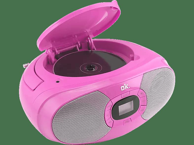OK Radio CD-speler Roze (ORC 131-PK)
