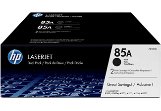Tóner - HP 85A LaserJet, Combo 2 pack, Negro, CE285AD