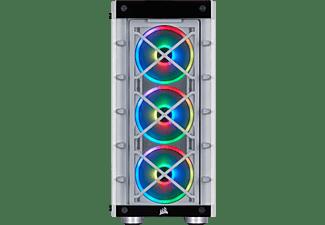 CORSAIR PC Gehäuse Carbide Series iCue 465X RGB Weiß, Glasfenster, ATX, Midi-Tower