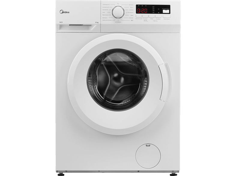 MIDEA MFNEW60-105 Waschmaschine (6 kg, 1000 U/Min., E)