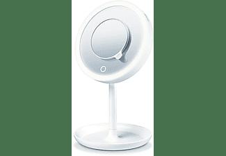 Espejo lumínico - Beurer BS 45, 5 intensidades, Luz LED, Sensor táctil, Espejo mágnetico, Blanco