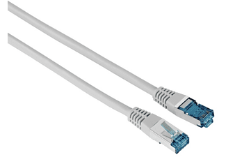 Cable de red - Hama 00200925, 10 m, 1 GBit/s, F/UTP, CAT 6, Enchufe RJ45, Gris