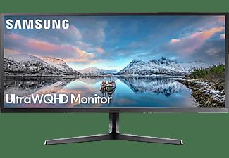 SAMSUNG Monitor S34J550WQR, 34 Zoll UWQHD, 60Hz, VA, 4ms, 300cd, Dunkelblaugrau (LS34J550WQRXEN)