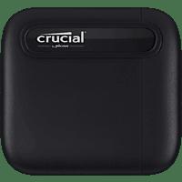 CRUCIAL X6 USB 3.1 Gen 2 Typ-C (10 GB/s) Festplatte, 1 TB SSD, extern, Schwarz