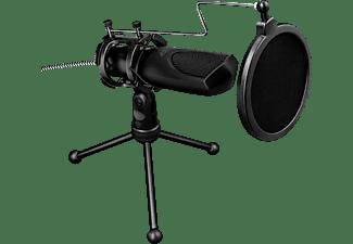 TRUST GXT 232 Mantis USB-Streaming Mikrofon, Schwarz