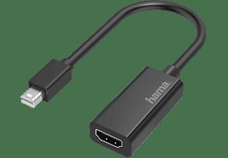 Adaptador de HDMI a Mini DisplayPort - Hama 00200332, UHD, HDMI in, Mini DisplayPort, Thunderbolt 2, Negro