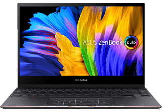 ASUS ZenBook Flip S OLED UX371EA-HL003T, Convertible mit 13,3 Zoll Display, Core i7 Prozessor, 16 GB RAM, 1 TB SSD, Intel Iris Xe Grafik, Jade Black