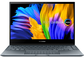 ASUS Zenbook Flip 13 OLED UX363EA-HP258T EVO, Convertible mit 13,3 Zoll Display, Core™ i7 Prozessor, 16 GB RAM, 512 GB SSD, Intel Iris Xe Grafik, Pine Grey