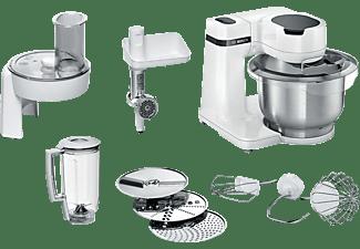 BOSCH MUMS2EW30 Küchenmaschine Weiß (Rührschüsselkapazität: 3,8 Liter, 700 Watt)