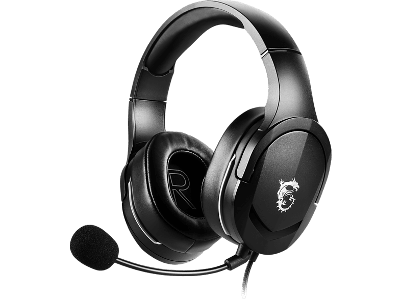 MSI Immerse GH20, Over ear Gaming Headset Schwarz