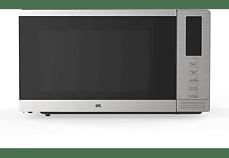 Microondas - OK OMWG 20203 DM, Grill, 800 W, 20 l, 9 funciones, 2 potencias, Función descongelar, Inox