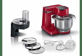 Robot de cocina - Bosch MUMS2ER01, 700 W, Bol 3.8 l, Acero inoxidable, 4 Potencias, Rojo