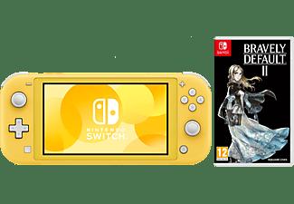 NINTENDO Switch Lite Yellow + Bravely Default 2