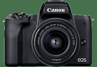 CANON Systemkamera EOS M50 Mark II mit EF-M 15-45mm f/3.5-6.3 IS STM (Schwarz)