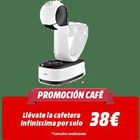 Cafetera de cápsulas Nescafé Dolce Gusto - Krups KP120110, 15 bar, 0,8 l, 1500 W, Blanco