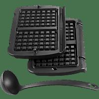 TEFAL XA7238 Waffelplatte für den OptiGrill, Schwarz