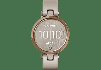GARMIN Lily Sport Smartwatch Faserverstärktes Polymer Silikon, 110 - 175 mm, Achatgrau/Rosegold