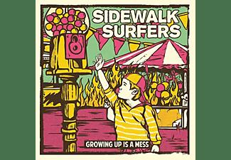 Sidewalk Surfers - Growing Up Is Mess (Orange)  - (Vinyl)
