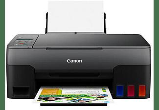Impresora multifunción - Canon Pixma G3520, B/N y Color, 9 ipm, Con escáner, Cartuchos rellenables, Negro