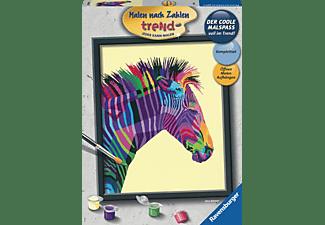 RAVENSBURGER Buntes Zebra Malen nach Zahlen Erwachsene Mehrfarbig