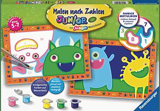 RAVENSBURGER Lustige Monster Malen nach Zahlen Kinder Mehrfarbig