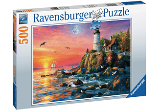 RAVENSBURGER Leuchtturm am Abend Erwachsenenpuzzle Mehrfarbig