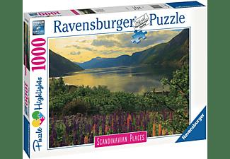 RAVENSBURGER Fjord in Norwegen Erwachsenenpuzzle Mehrfarbig