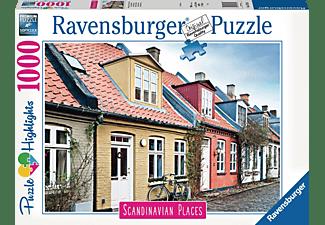 RAVENSBURGER Häuser in Aarhus, Dänemark Erwachsenenpuzzle Mehrfarbig