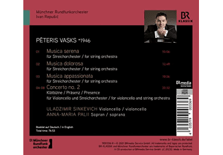 Sinkevich/Palii/Repusic/Münchner Rundfunkorchester - MUSICA DOLOROSA - MUSICA SERENA - MUSICA APPASSION  - (CD)