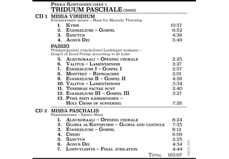 Matvejeff,Ville/Ranta,Kaisa/Jyväskylä Sinfonia/+ - Triduum Paschale  - (CD)