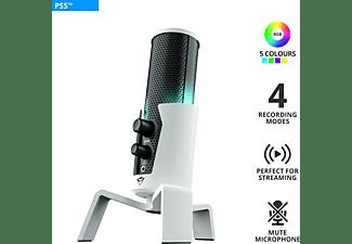 TRUST Gaming GXT 258W Fyru 4-in-1-USB, Streaming-Mikrofon, Weiß
