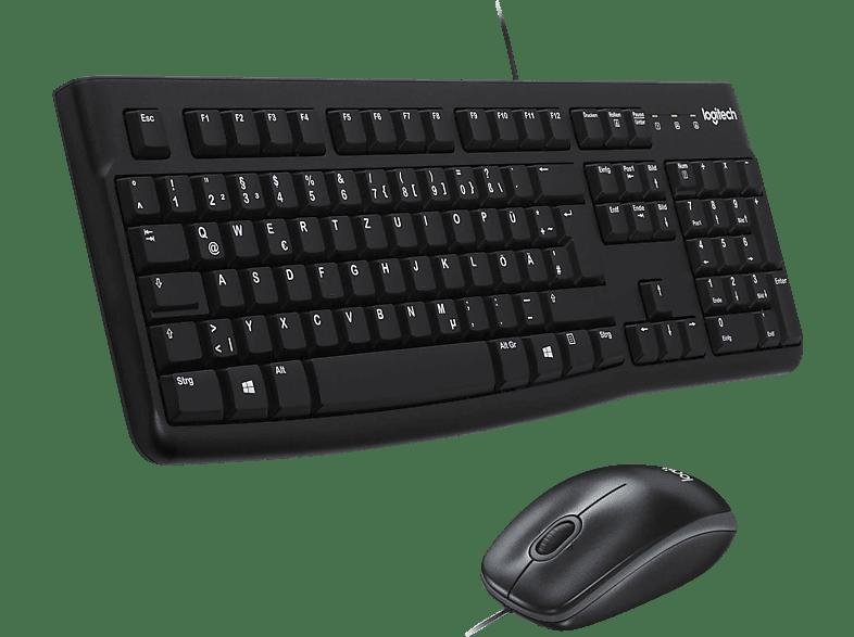 LOGITECH MK120, Tastatur-Maus Set, Schwarz