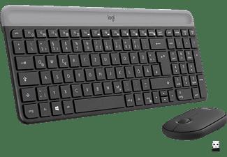 LOGITECH MK470 Slim Combo, Tastatur-Maus Set, Schwarz
