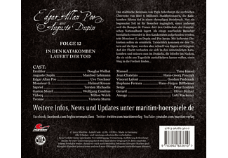 Poe,Edgar Allan/Dupin,Auguste - Folge 12 - In Den Katakomben Lauert Der Tod  - (CD)